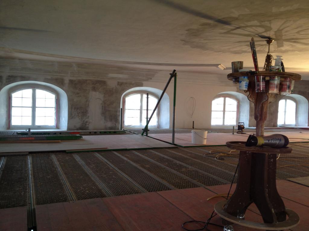 Flächengerüst zur Restaurierung der Decke