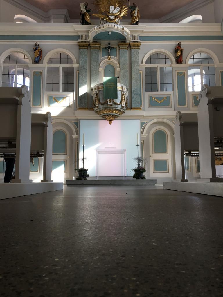 Innenraum nach der Renovierung